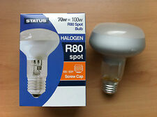 70w 100w Watt ES Screw In E27 Diffused Halogen Saver Reflector R80 Bulb x 2