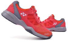 Yonex Unisex LUMIO Tennis Shoes Power Cushion Red for All Court Racquet Raket