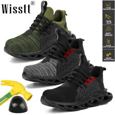 Men Mesh Work Boots Safety Shoes Construction Steel Toe Cap Sneakers Lightweight