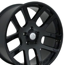 "22"" Fits Dodge RAM 1500 SRT Style Wheels Black 22x10 Set of 4 Rims Durango W1x"