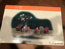 Dept 56 Snow Village Halloween Haunted Front Yard New In Box Item#52924