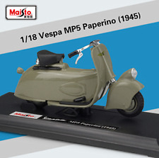 Maisto 1:18 Vespa MP5 Paerino 1945 Motorcycle Scooter Model New in Box Green