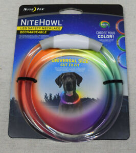 Nite Ize NiteHowl LED Safety Necklace Disc-O-Select Rechargeable Dog Collar NEW