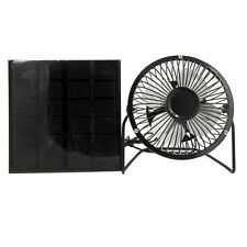 Solar Panel Runs  4'' mini Fan for Home Car Outdoor Boat Camping Cooling