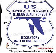 "1930's NATIONAL WILDLIFE REFUGE - WATERFOWL - 12"" Shield / Replica, hunting"