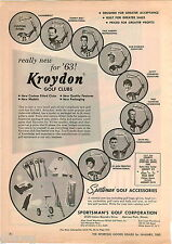 1963 ADVERT Kroydon Golf Clubs Tommy Bolt Bob Rosburg Fred Hawkins Dave Hill