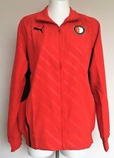 FEYENOORD RED WALK OUT JACKET BY PUMA SIZE MEN'S MEDIUM BRAND NEW WITH TAGS