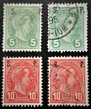 LUXEMBOURG #78-79 1895 Official Mint/Used LH/OG,NG VF (13-31)