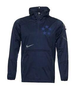 Nike Field General Fly Rush Half-Zip Jacket 635430 419 Navy Blue Sz S Perfect!