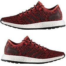 Adidas Men's NEW PureBoost Running Shoes Red-Black SoftFoam Training Sneakers