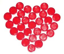 LEGO 30 Trans-Red Tiles Round 1 x 1 75052/10247