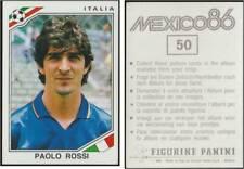 MEXICO 86 CALCIATORI PANINI N.50 PAOLO ROSSI - ITALIA NEW MINT 1986 FIGURINA