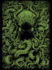 "mondo artist Godmachine ""From Below"" Variant Poster print kraken rare #/50"