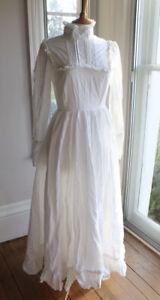 Beautiful Vintage Laura Ashley Wedding Dress - Size 14 (10/12) Edwardian Style