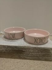 Rae Dunn - Love Xoxo- Cat Dishes Bowl Set- Pink  Dish 4.5� Diameter