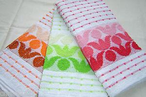 3 x Kitchen Hand/Tea Towels.  100% Cotton.  Great for Kitchen