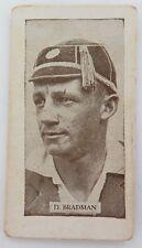 "c1932 DON BRADMAN ALLENS STEAM ROLLERS CARD ""CRICKETERS 1932"" BLACK BACK"
