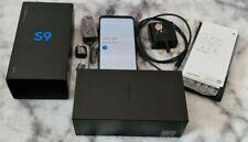 Samsung Galaxy S9 G960F 64GB  Midnight Black * Unlocked + complete * screen burn