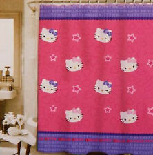 "Hello Kitty & Bows Stars Scatter Fun Peva Shower Curtain, Size 70""x72"" -NEW"