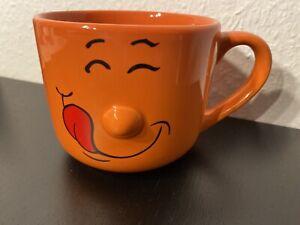 Smilie Tasse Groß in Orange I Top Zustand I BLITZVERSAND