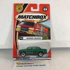 Chevrolet Avalanche #58 * GREEN * Matchbox * WA5