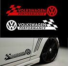 Styling `VOLKSWAGEN PERFORMANCE`with Checks - Decal Sticker for Bodywork