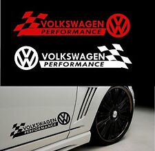 "Estilo ""Volkswagen performance 'con cheques Decal Sticker Para Carrocería"