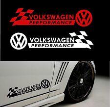 """Styling """"prestazioni Volkswagen"""" con Adesivo Decalcomania-controlli di carrozzeria"""