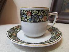 ancienne tasse et sous tasse porcelaine allemande bavaria decor floral