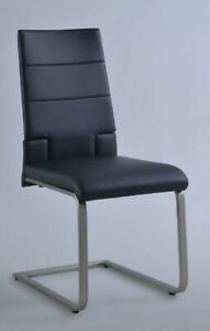 Motion side chairs (2) in Black Leather.  SAVANNAH-SC-BLK