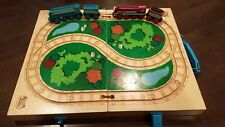 Thomas the Train wooden Railway travel case + Caitlin and Connor