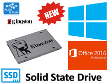 NEW SSD Hard Drive 120 GB 2.5 With Genuine Windows 10 Professional + Office 2016
