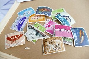 12 San Marino used postage stamps philately postal mail Philatelic