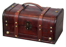 New Vintiquewise(TM) Decorative Treasure Box - Wooden Trunk Chest,QI003004.SO