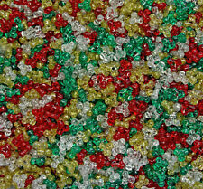 Christmas Sparkle Glitter Mix Tri Beads 500pc Made in USA kids school crafts