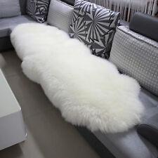 Öko Lammfell Schaffell Teppich Sofa Matte echtes Fell weiß 180-210cm TP3513ws-L