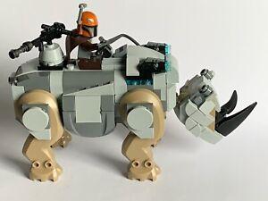ORIGINAL LEGO star wars PARTS - MANDALORIAN TROOPER & RHINO (76099) my idea