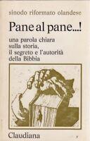 Pane al pane, Claudiana, teologia, religione, Chiesa olandese, 1972, Soggin