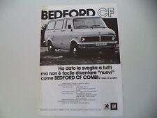 advertising Pubblicità 1978 BEDFORD CF COMBI