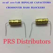10 uF 100 Volt BIPOLAR CAPACITOR BASS BLOCKER SPEAKER TWEETER CROSSOVER 2 Pcs