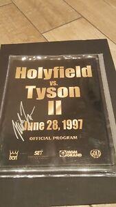 1997 MIKE TYSON Vs. Evander Holyfield SIGNED  Boxing Program Fight