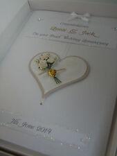 Personalised Pearl 30th Wedding Anniversary Card, Swarovski crystals, boxed