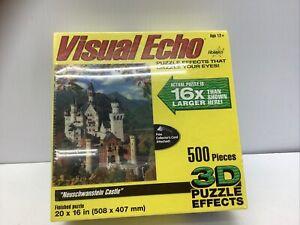 NEW 3D Puzzle German Castle Neuschwanstein 500 Pc Germany Visual Echo Lenticular