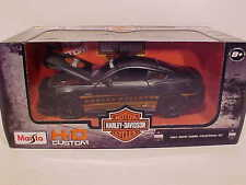 2015 Ford Mustang GT Coupe Die-cast Car 1:24 by Harley Davidson 7.75 inch Black