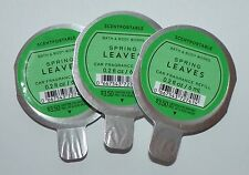 LOT OF 3 BATH & BODY WORKS SPRING LEAVES SCENTPORTABLE FRAGRANCE CAR REFILL NEW