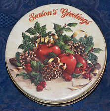 Collectible TIN Box MEIER CREATIVE *** SEASONS GREETINGS ***Gift TIN/ Container
