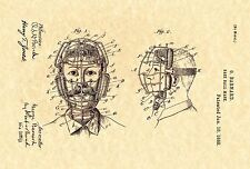 Patent Print - Baseball Catcher's Mask 1888. MLB. Ready To Be Framed!
