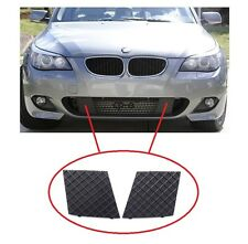 BMW 5 E60 E61 2003-2010 M SPORT FRONT BUMPER LOWER LEFT + RIGHT MESH GRILL TRIM