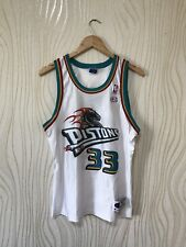 DETROIT PISTONS # 33 GRANT HILL BASKETBALL  SHIRT JERSEY CHAMPION VINTAGE