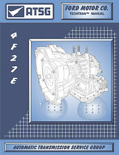 ATSG Tech Manual 4F27E Ford Focus FN4A-EL Mazda Protege Rebuild Guide Book New